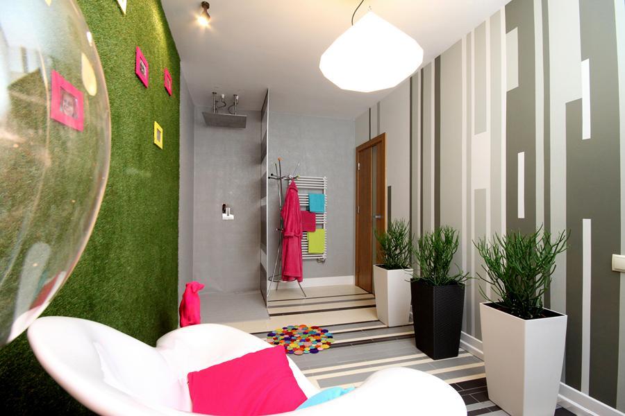 Designerski pokój kąpielowy - zobacz nasz pomysł na ciekawą aranżację łazienki.