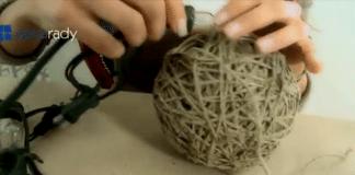Jak zrobić lampę ze sznurka