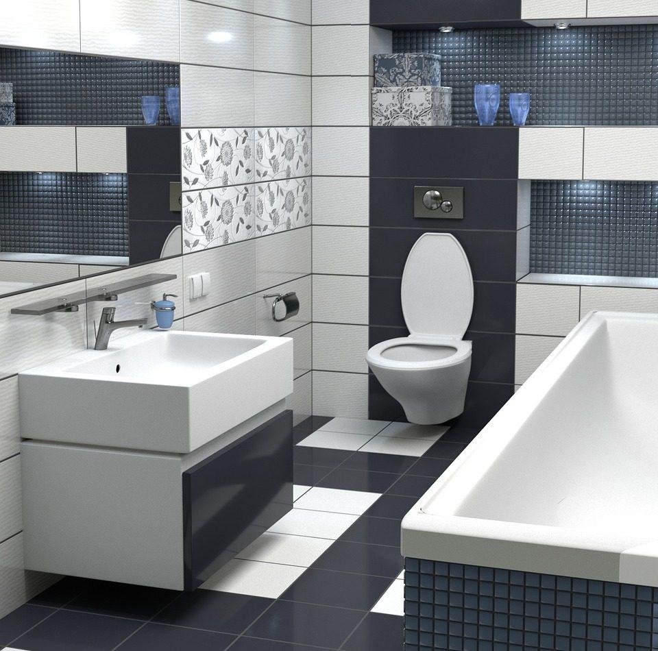 Kolor płytek do łazienki ma duże znaczenie. Zobacz jak urządzić biało-czarną łazienkę.