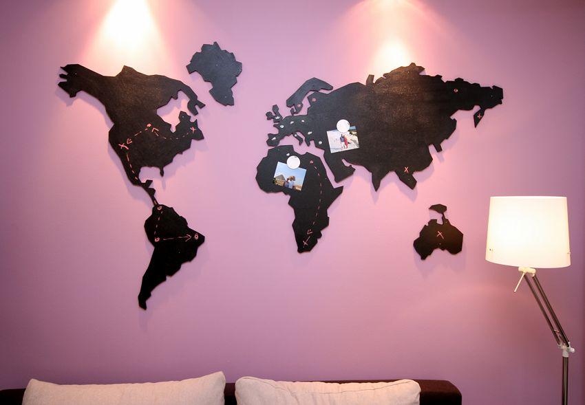 Radzimy, jak zrobić dekorację na ścianę w postaci mapy. Zainspiruj się i do dzieła!