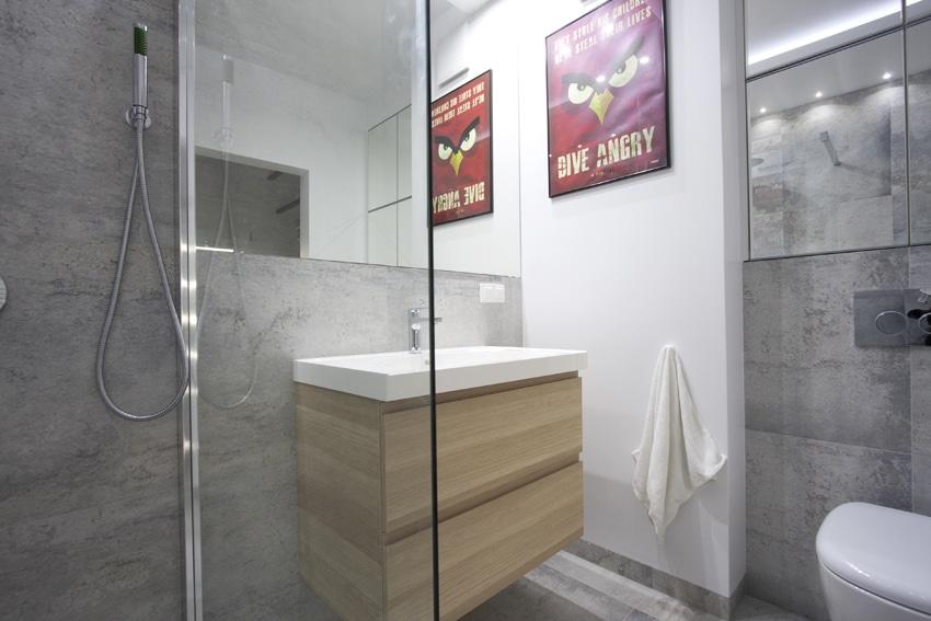 Beton, biel i szkło, czyli łazienka w stylu loftowym. Zapraszamy do naszej galerii.