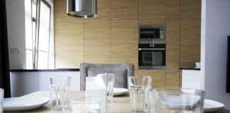 Nowoczesna kuchnia w drewnie