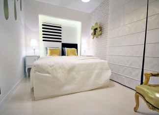 Wąska sypialnia - nieustawny pokój ZObacz, jakie są nasze pomysły na to wnętrze.