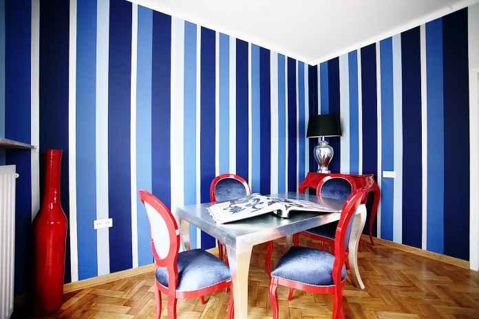 pasy na ścianie jak malować inspiracje