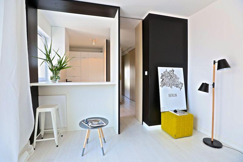 Mieszkanie z żółtym akcentem