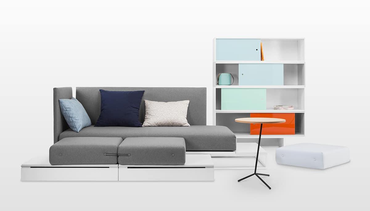 Nowoczesne meble od firmy NOTI to praktyczne rozwiązanie do małych mieszkań.