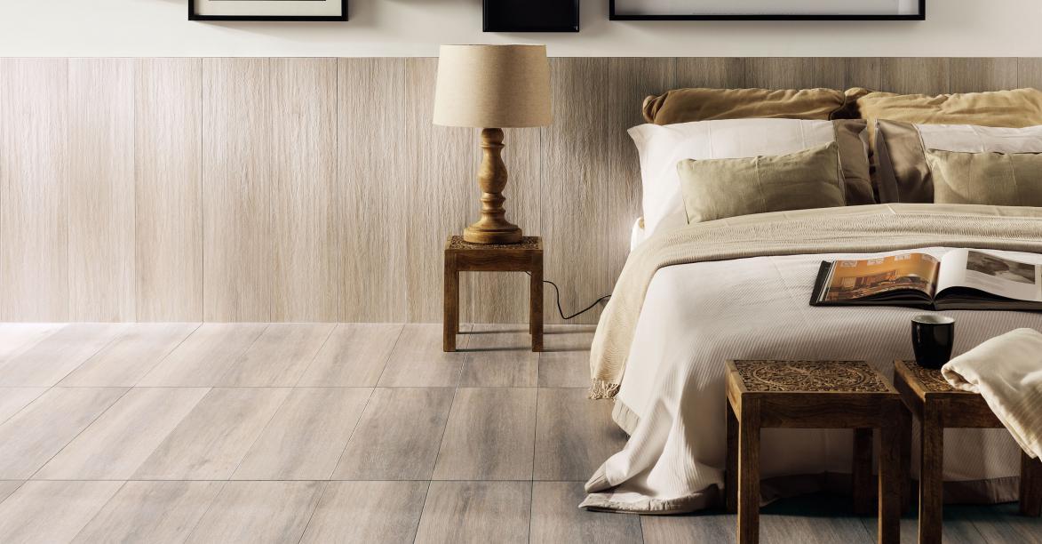 Marzy ci się drewno w kuchni? Zobacz naszą propozycję - płytki drewnopodobne.