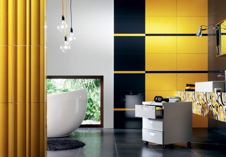 Kolorowe płytki łazienkowe