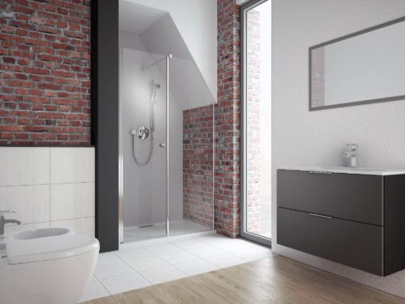 Zobacz, jak do niestandardowej łazienki dostosować kabinę prysznicową.