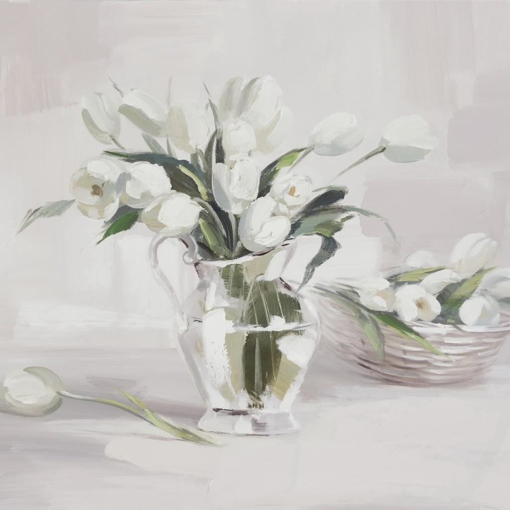 Żywe kwiaty można z powodzeniem zastąpić tymi... malowanymi. Zobacz, gdzie kupić obrazy z kwiatowym motywem.
