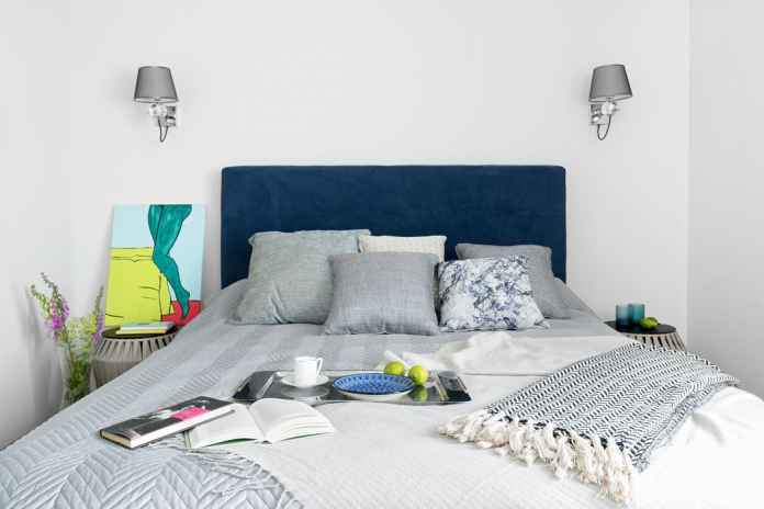 Mała sypialnia w bloku aranżacje,inspiracje, zdjęcia Dekorady.pl