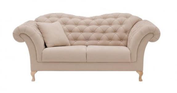 Meble wypoczynkowe glamour - sofa paris
