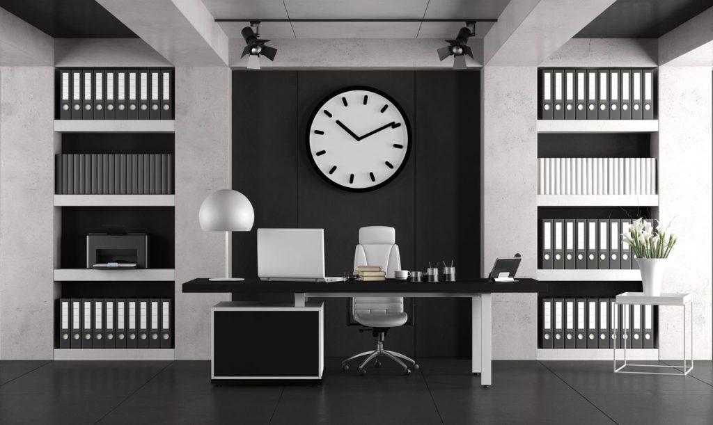 Czarny kolor w biurze