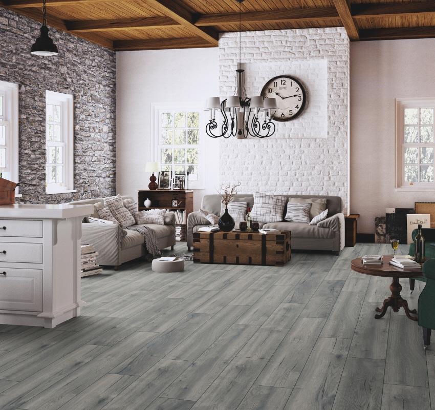 Białą czy szara podłoga do salonu?