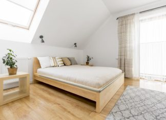 Sypialnia na poddaszu - aranżacja