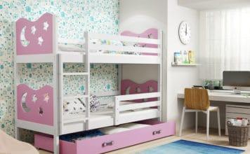 Łóżko piętrowe dla dziewczynki