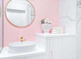 Modne ściany w łazience