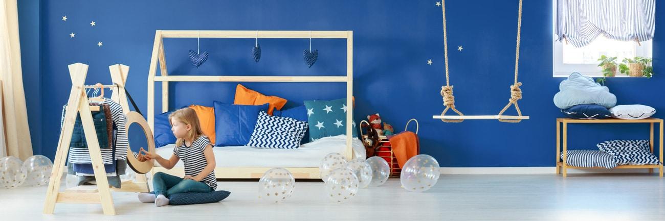 Niebieski, morski kolor w pokoju dziecięcym