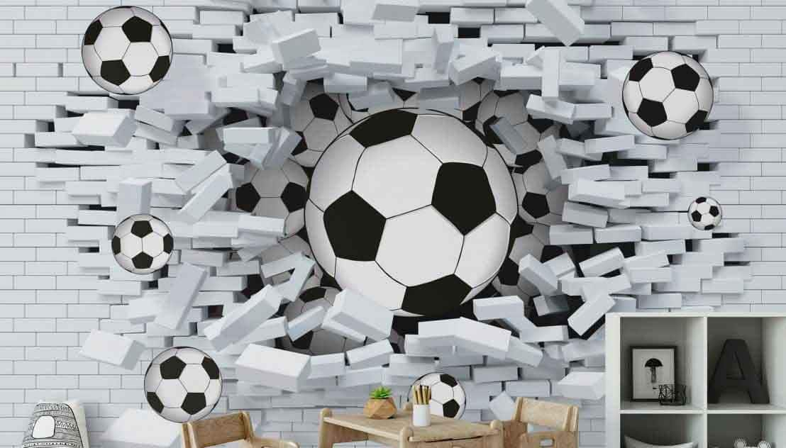 Piłkarska fototapeta