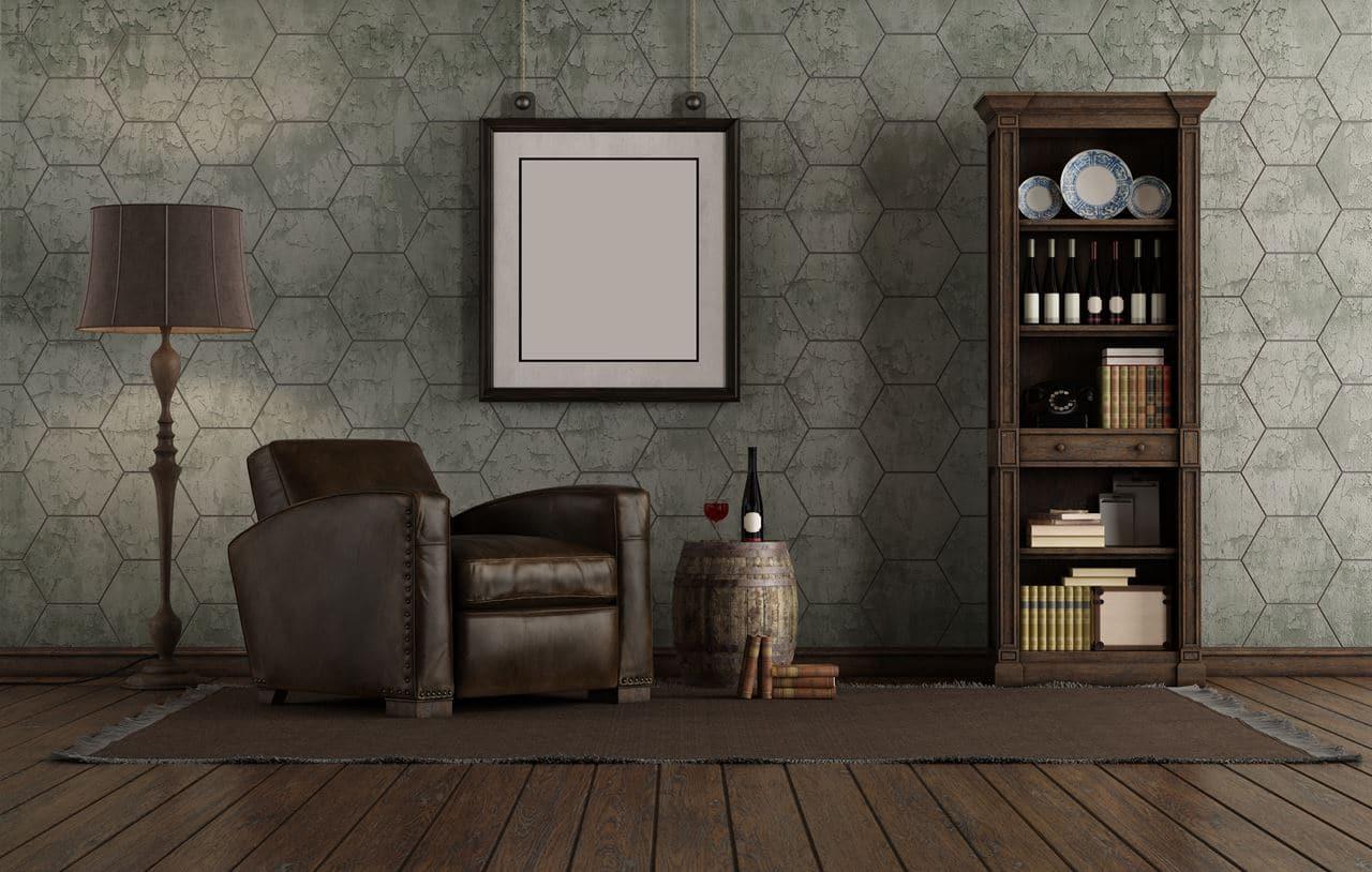 Płytki heksagonalne w salonie