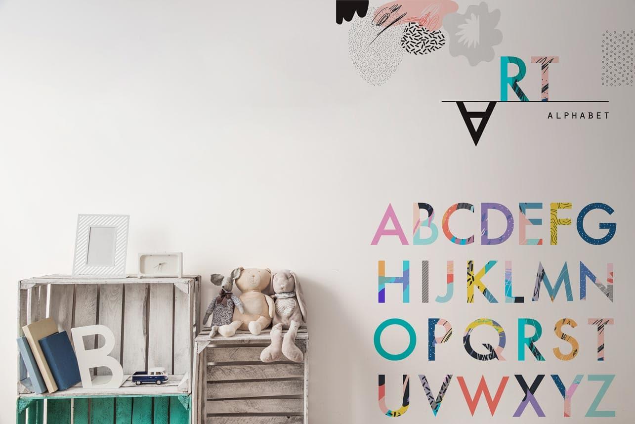 Naklejka kolorowy alfabet
