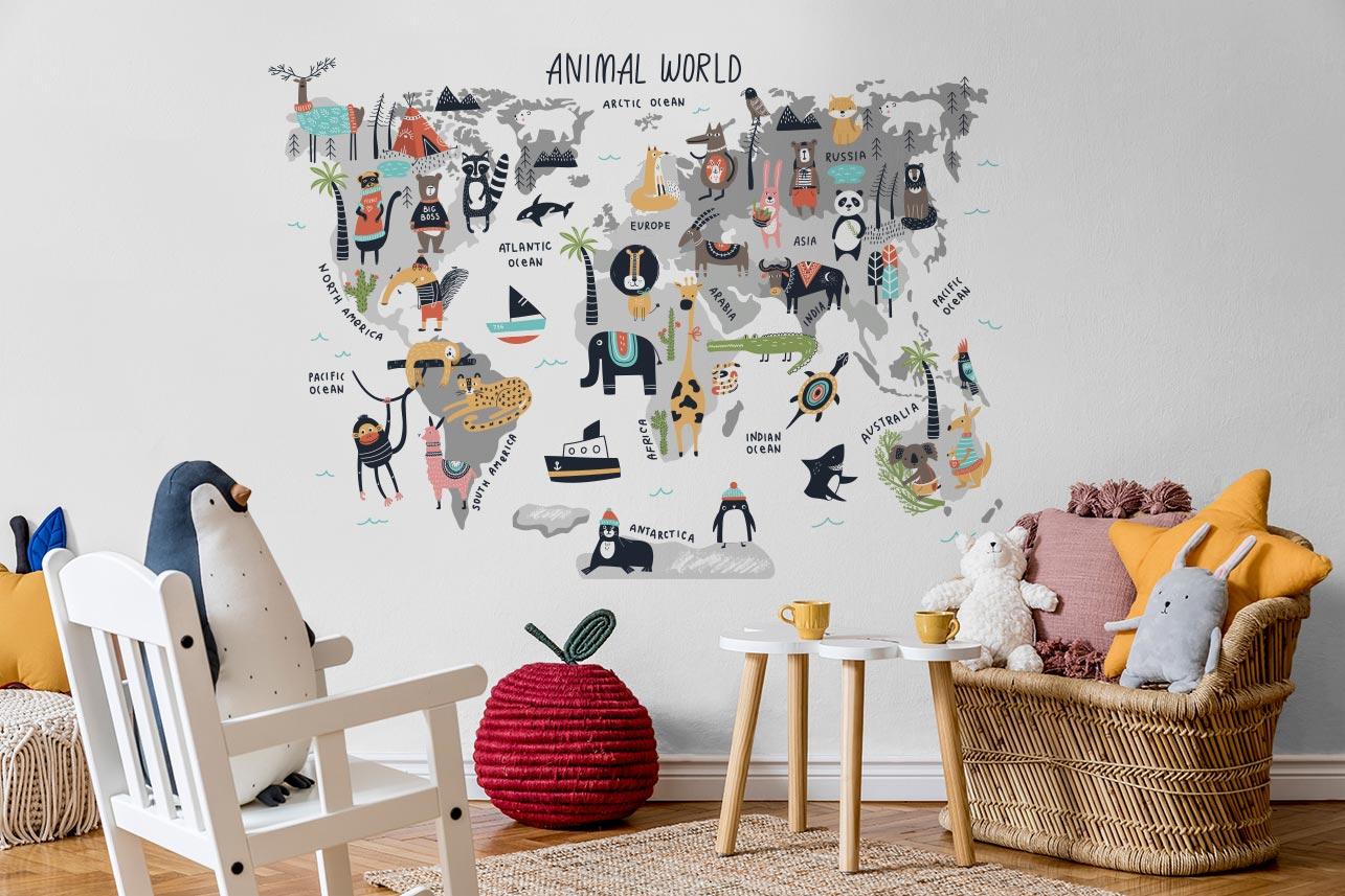 Naklejka świat zwierząt