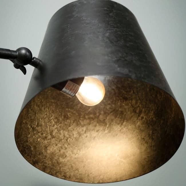 Lampa podłogowa antrancytowa
